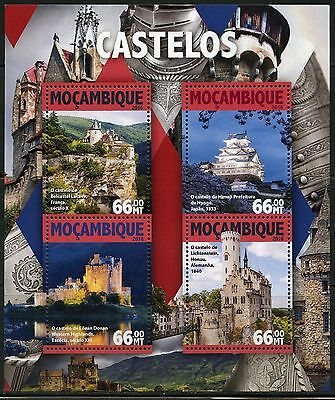 Mozambique  2016 Castles Sheet Mint Never Hinged