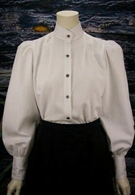 FRONTIER CLASSICS Victorian White Victoria Blouse Cowgirl Steampunk Dickens
