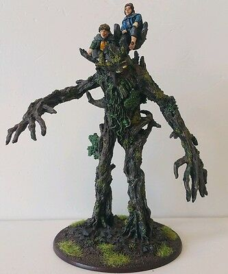 Mighty ENT Treebeard carrying Merry & Pippin well painted metal LOTR Hobbit OOP