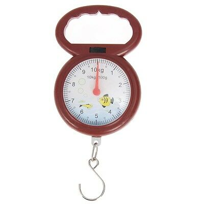 Fish Shape 10kg Weighing Spring Balance Handheld Numeral Pointer Hanging Scale