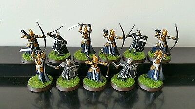 11 x Warriors of the Last Alliance well painted plastic models LOTR Hobbit