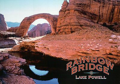 Rainbow Bridge Utah, Lake Powell, North of Arizona, Largest Natural --- Postcard