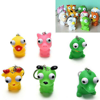 1xRaised Eyes Doll Anti Stress Ball Vent Animal Keychain Squeezing Toys Cute new