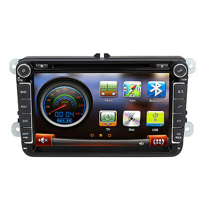 "8"" Autoradio GPS Navigation DVD Stereo For VW Passat Polo Golf Caddy Tiguan"