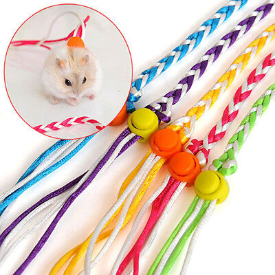 Adjustable Leash Collar Guinea Pig Small Pets Lead Pet Hamster Traction Rope EW