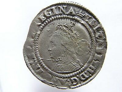 Toned Hammered Silver Sixpence Of Elizabeth 1st. 1567. 3rd & 4th Issue. (C928)