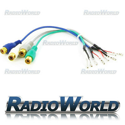BMW Navigation 3 5 7 series X5 AV IN Phono Cable Lead Wiring Harness Multimedia