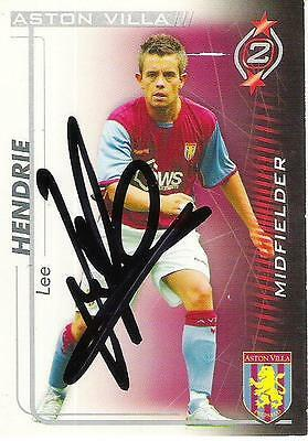A Shoot Out card Lee Hendrie at Aston Villa. Personally signed by him. 2005-2006