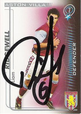 A Shoot Out card Liam Ridgewell at Aston Villa. Personally signed by him 2005-06