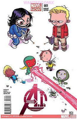 Avengers Ai 1 Skottie Young Baby Variant Cover Vision Hank Pym Marvel Comic Book