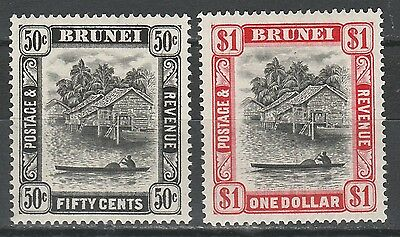 Brunei 1947 River View 50C And $1 Perf 14