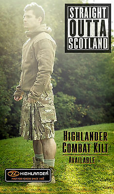 New Highlander HMTC - Black / Multicam Match Combat Kilt - Tactical Combat Kilt