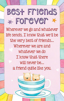Best Friends For Ever - Credit Card Style Keepsake with Signature Panel