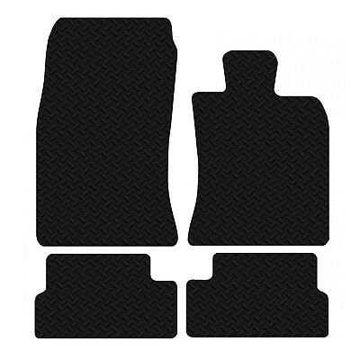BMW Mini 2006 - Onwards Black Floor Rubber Fully Tailored Car Mat 3mm 4pc Set