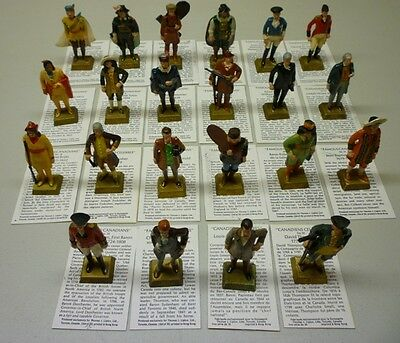 1960's Lipton Famous Canadian Heroes By Marx Lot of 28 Figurine Premiums