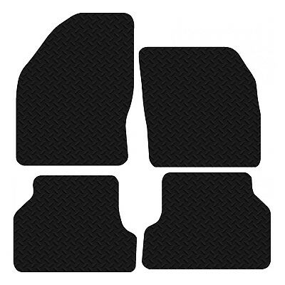 Ford Focus MK2 2005 - 2011 Black Floor Rubber Tailored Car Mat 3mm 4pc Set