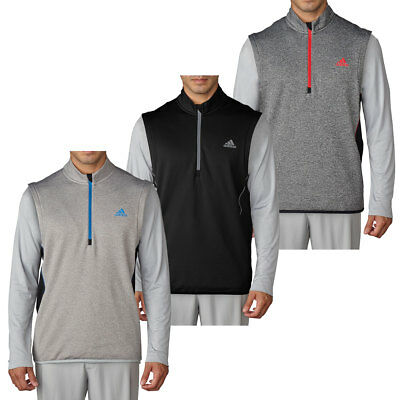 Adidas Golf 2016 Mens climaheat Vest Half Zip Slipover Sleeveless Pullover