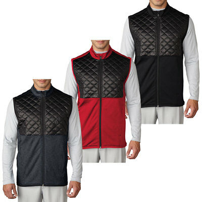 Adidas Golf 2016 Mens climaheat Prime Fill Vest Quilted Thermal Full Zip Gilet