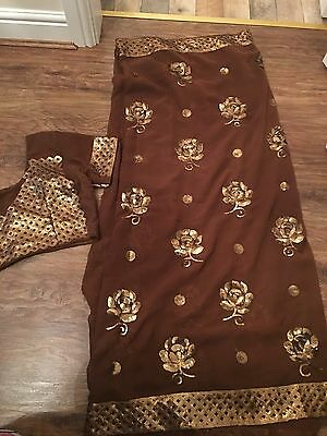 Indian Fancy Wedding Lengha Saree Sari Choli Blouse Salwar Kameez Stitched 10-12