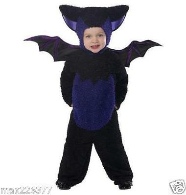NEW Smiffys jumsuit Hooded Bat Halloween Costume toddler baby  12 - 18 months