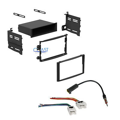 Single Double DIN Car Stereo Dash Kit Harness Antenna for 2003-2005 Nissan 350Z
