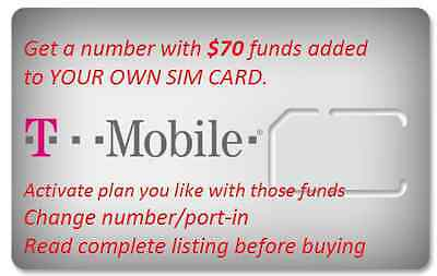 T-Mobile Prepaid Preloaded SIM Card with $64 Or $67 funds