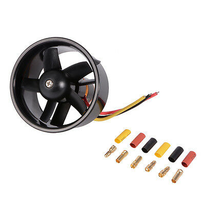 64mm Duct Fan with 4500KV Brushless Outrunner Motor para EDF Jet AirPlane RC379
