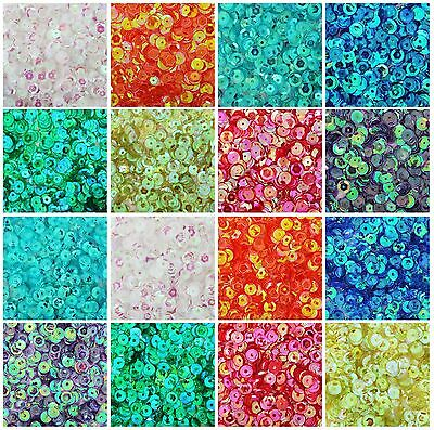 Loose Cup Sequins - Iridescent - 720/pack - 4Mm & 6Mm 16 Colors - Threadart