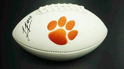 TAVIEN FEASTER Clemson Tigers SIGNED Logo Football