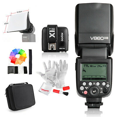 Godox Camera Flash V860IIS +TTL Transmitter X1T-S +Cover Bag for Sony DSLR