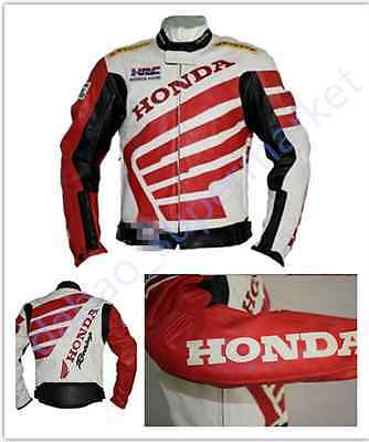 New HONDA PU LEATHER MOTORCYLE JACKET Motorcycle Racing Jacket Reflective stripe