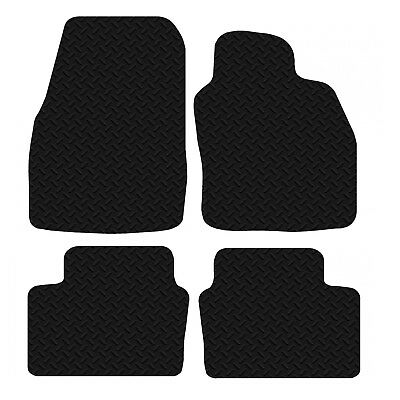 Vauxhall Astra H MK5 2004-2010 Black Floor Rubber Tailored Car Mat 3mm 4pc Set