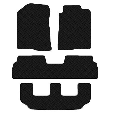Toyota Corolla Verso 2004 - 2009 Black Floor Rubber Tailored Car Mat 3mm 4pc Set