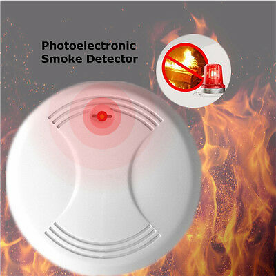 Home Security Wireless Smoke Detector Fire Alarm Tester Sensor Battery Operate