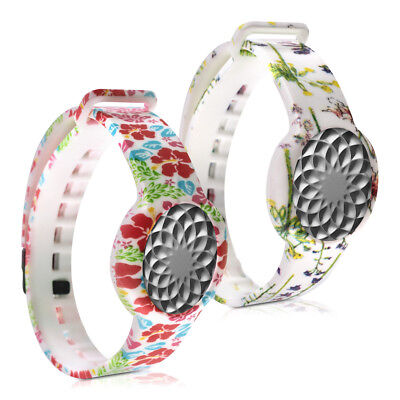 2X Silicone Spare Bracelet For Jawbone Up Move Spring Orchids Multicolor Green