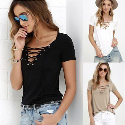 Fashion Women/Lady Loose Pullover T Shirt Short Sleeve Cotton Top Shirt Blouse