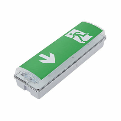LED Green Square Maintained Emergency Hazard Safety Escape Fire Exit Door Sign