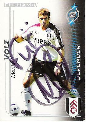 A Shoot Out card Moritz Volz at Fulham. Personally signed by him. 2005-2006.
