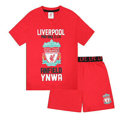 Liverpool FC Official Football Gift Boys Short Pyjamas