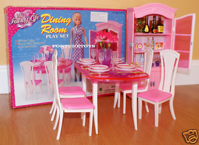 Gloria Furniture Dollhouse Classic Dining Room W/Dining Table Playset For