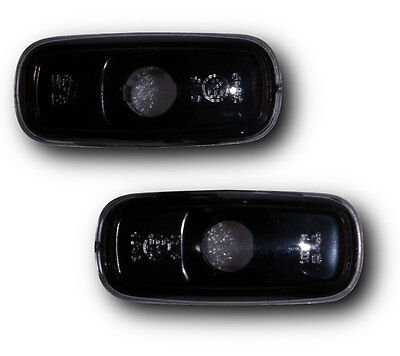 Audi A3 00-02 Crystal Smoked Black Side Repeaters Indicators
