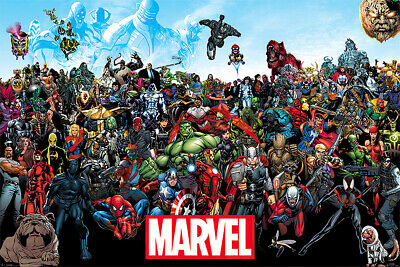 The Marvel Comics Universe - Comic Poster / Print (All Characters)