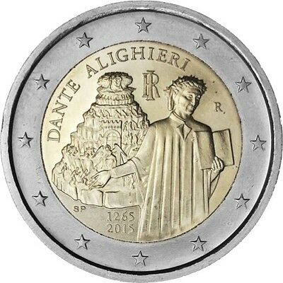 "2015 Italy 2 Euro Uncirculated Coin ""Dante Alighieri 750 Years"""
