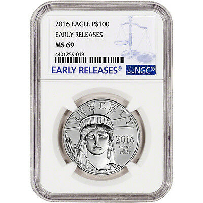 2016 American Platinum Eagle (1 oz) $100 - NGC MS69 - Early Releases