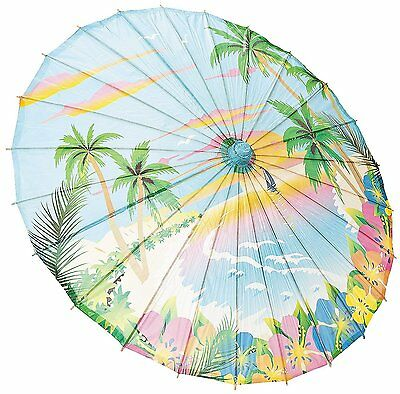 """Paper Sunset Parasol. Opens to 32"""" Includes 22"""" Bamboo Handle"""