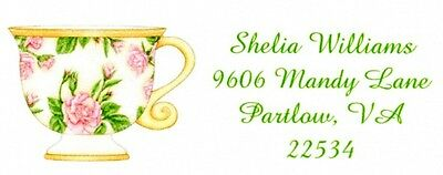 Roses Teacup Address Labels