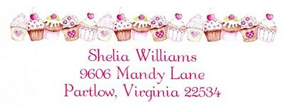 Cupcakes horizontal Address Labels