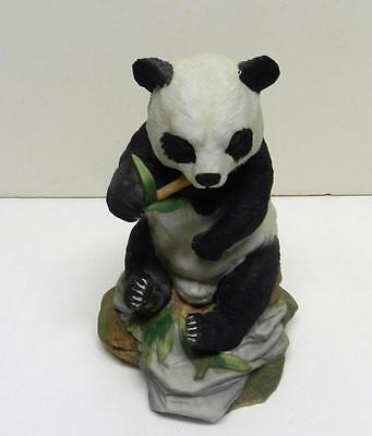 Vintage Andrea by Sadek Large Panda Bear Figurine #5621 Eating Bamboo MADE JAPAN
