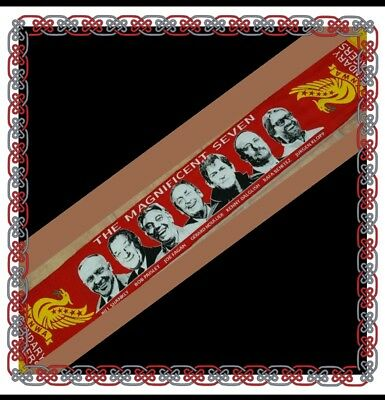 Liverpool Scarf - The Magnificent Seven - Legendary Managers - Red