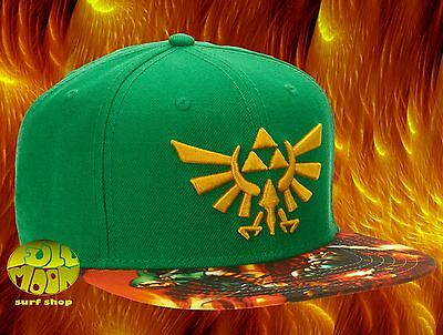 a828b0b5 New Nintendo The Legend of Zelda Triforce Logo Sublimated Bill Snapback Cap  Hat